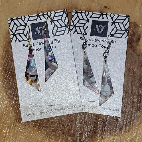 Triangle Resin Earrings