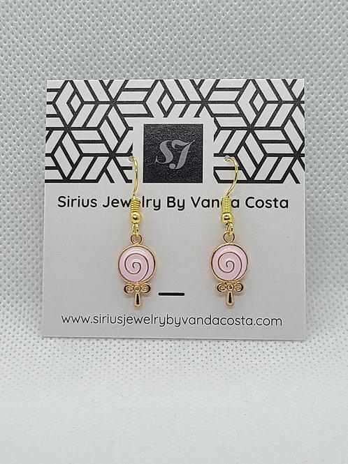Lollipop Earrings Pink