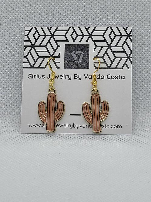 Cactus Earrings Brown