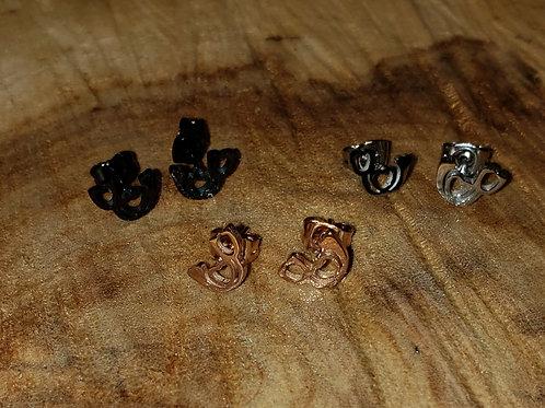 Stethoscope Stud Earrings