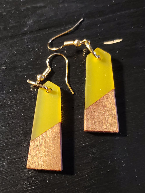 Wood & Resin Earring
