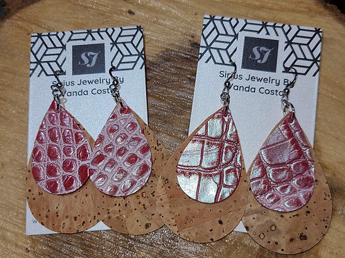 Cork & Leather Earrings