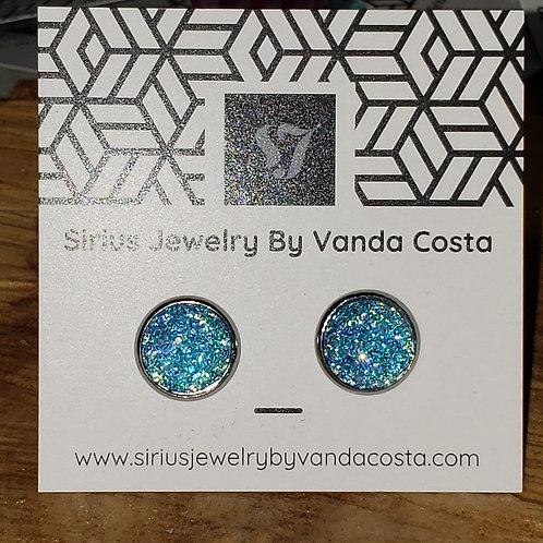 12mm resin earrings