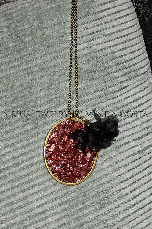 Resin Pendant Necklace with pendant
