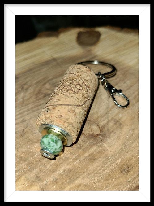 Upcycled Cork Keychain