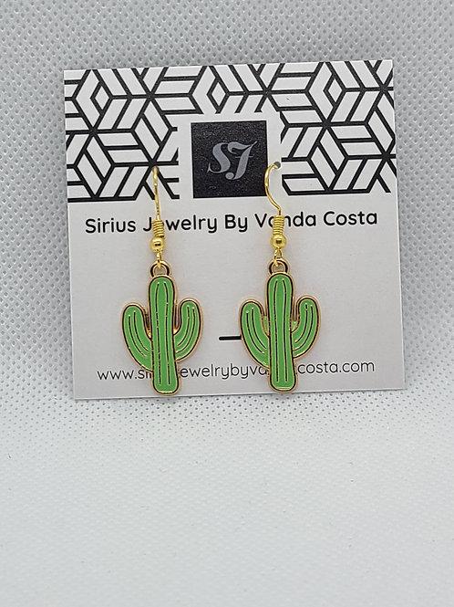 Cactus Earrings Green