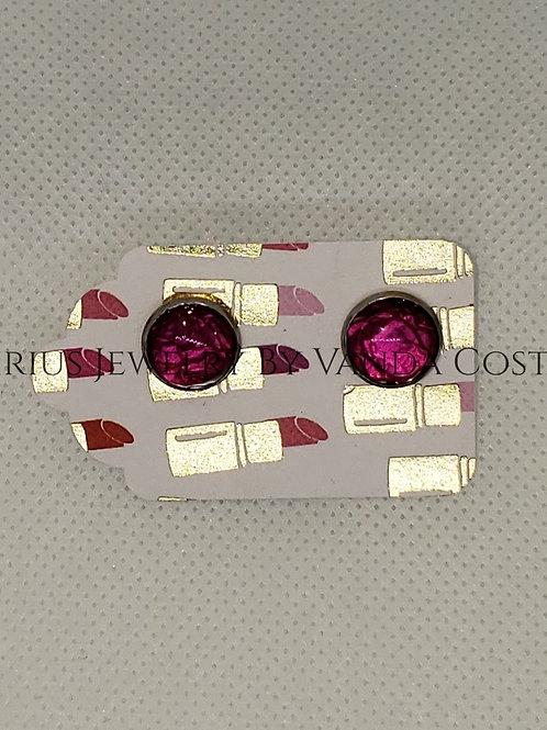 Leather resin earrings