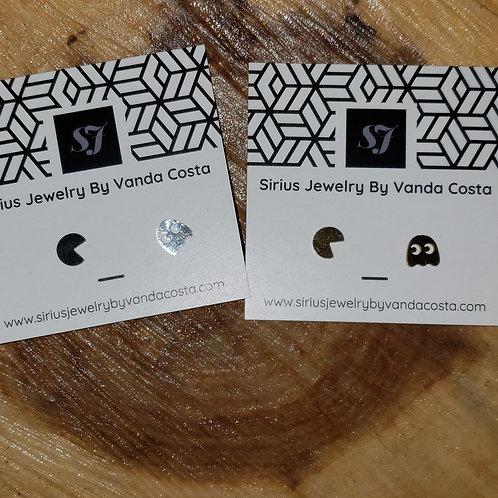 Stud Earrings Pac Man