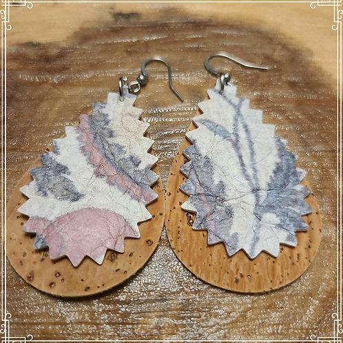 Cork & Leather Earrings
