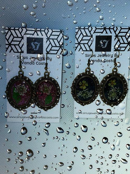 Vintage resin earrings