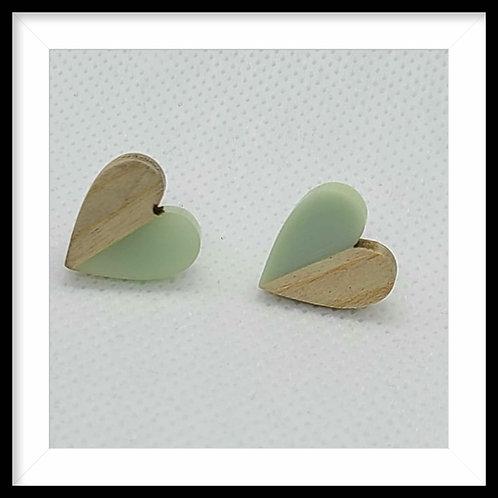 Resin & Wood Earrings