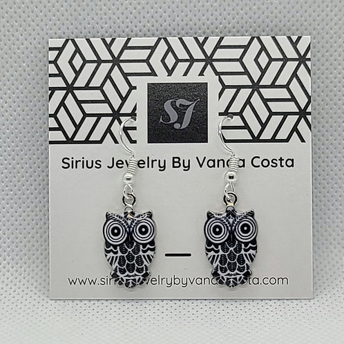 Owl Earrings Blue