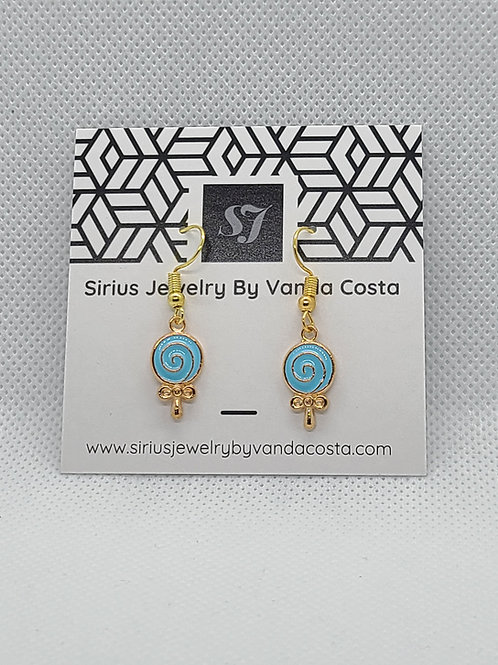 Lollipop Earrings Blue