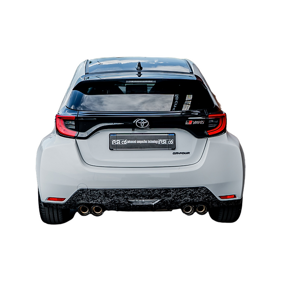 Rear Extractor Forged Carbon 4 exhaust pipes - Toyota GR Yaris