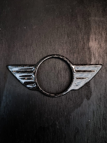 Cover Emblem Logo Badge MINI Carbon - MINI R Series & F Series