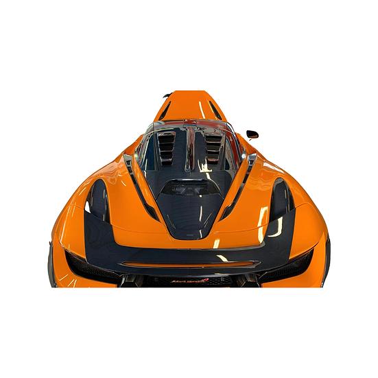 Rear Trunk Fin Carbon - MCLAREN 720S