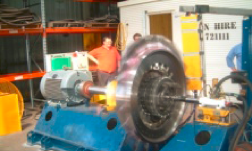 2nd generation turbine spin test