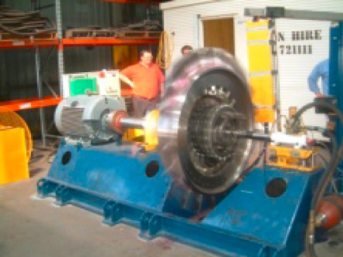 2nd generation turbine spin test
