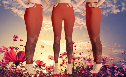 6e24a1826c7c6 Your active lifestyle is perfectly complimented in these playful  hummingbird leggings. You will love wearing these vibrant red versatile  pants with their ...