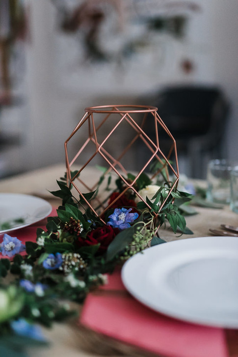 copper table decoration