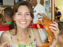 MD girl loves her crabs!