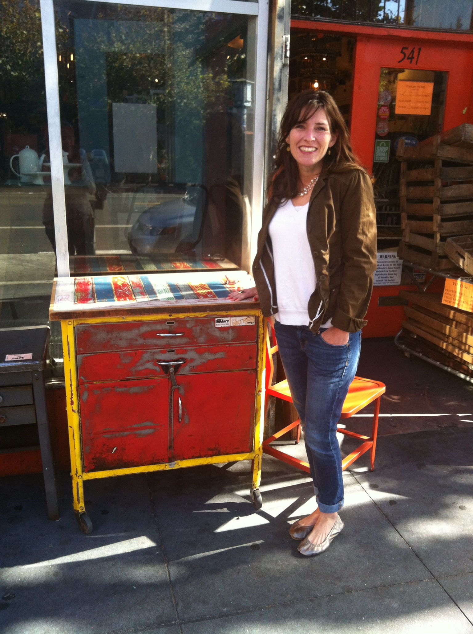 Fell in love with this antique toolbox turned chest