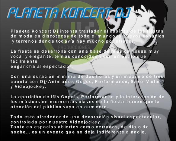 PLANETA KONCERT DJ