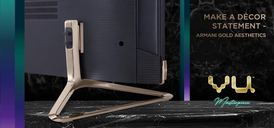 Vu Masterpiece TV - Armani Gold Aesthetics