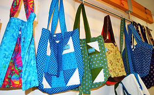 a selection of hand quilted bags.JPG