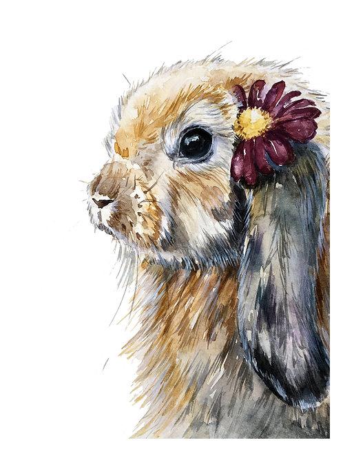 Bunny Watercolor 15x21cm