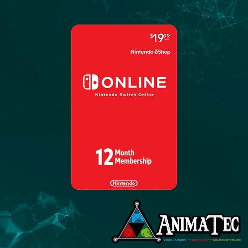 Online de Nintendo - 12 meses