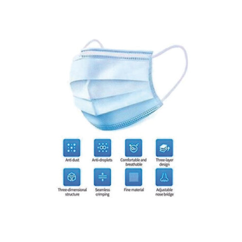3-Ply Surgical Mask - Box of 100
