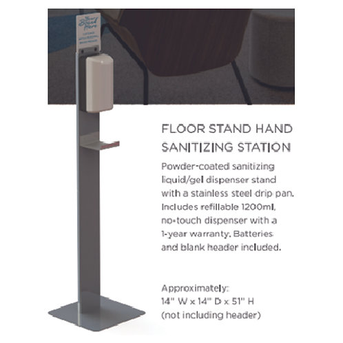 Floor Stand Hand Sanitizing Station - 10 Count