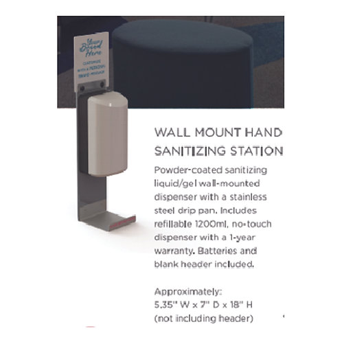 Wall Mount Hand Sanitizing Station - 10 Count