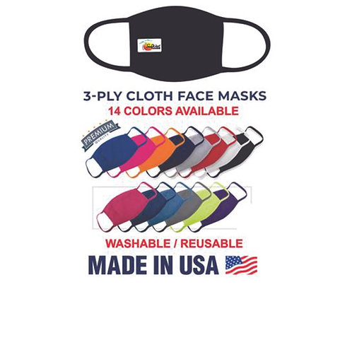 Anti-Bacterial 2-Ply Polyester Face Mask-Full Color Imprint-Minimum Order 50