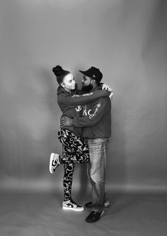 Couple in studio portrait package