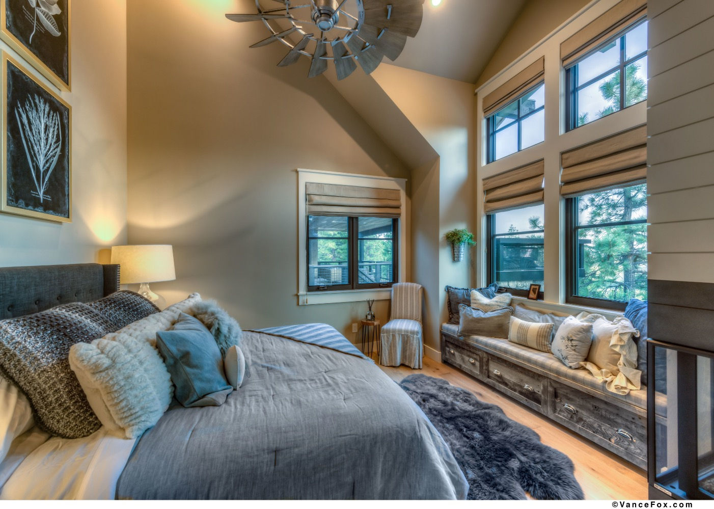 Godfather of All Farmhouses, Guest Bedroom, Clear Creek Tahoe