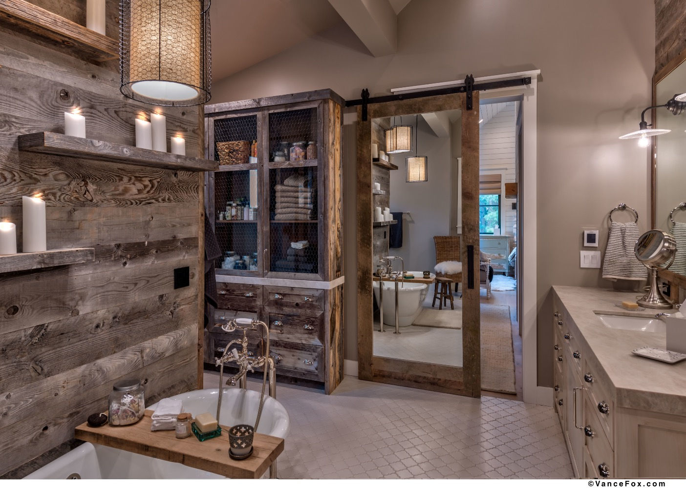 Godfather of All Farmhouses, Main Bathroom, Clear Creek Tahoe