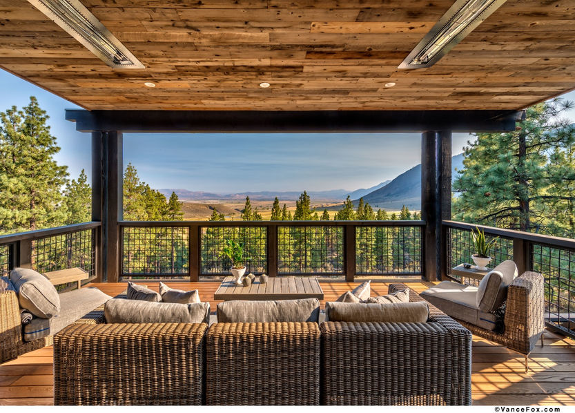 Godfather of All Farmhouses, Patio Deck, Clear Creek Tahoe