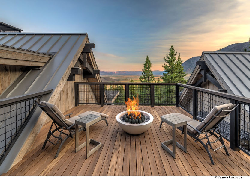 Godfather of All Farmhouses, Rooftop Fireplace, Clear Creek Tahoe