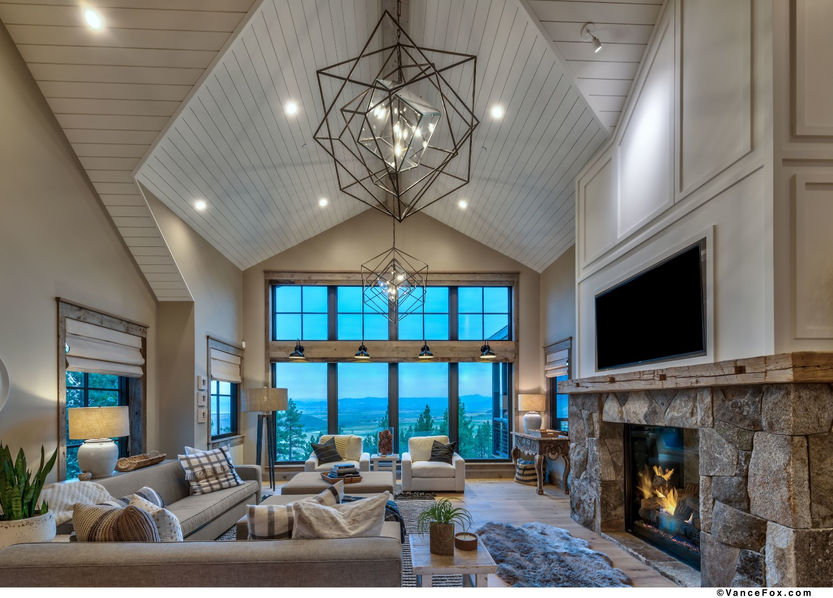 Godfather of All Farmhouses, Living Room, Clear Creek Tahoe