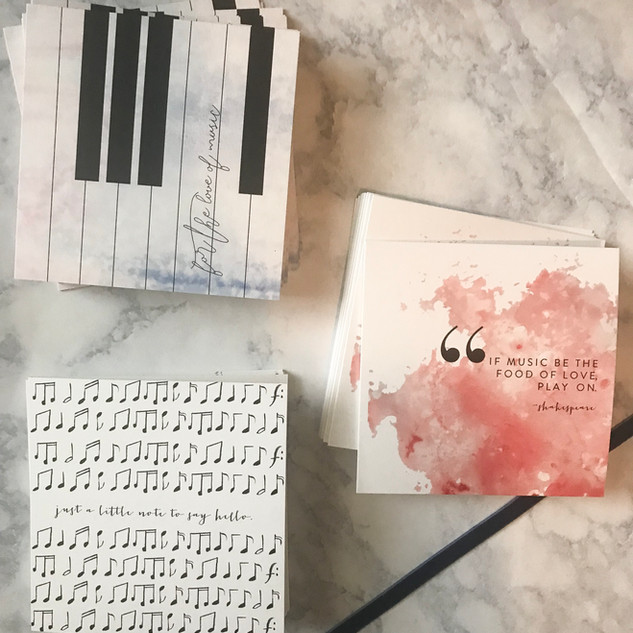 Custom Stationery Set for a Music Lover