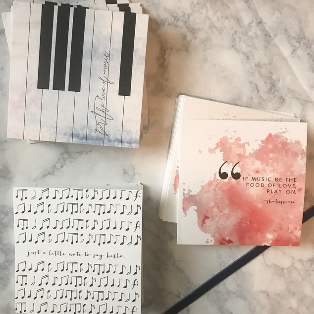 Custom Stationery Set for the Music Lover