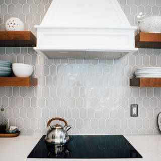 Counter to ceiling glazed wall tile