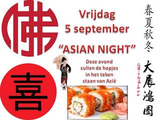 Clubkampioenschappen met Asian night en Belgisch weekend