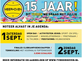 TV MEERHOVEN 15 JAAR!!! FESTIVITEITEN 1 EN 2 SEPTEMBER