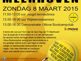 Zondag 8 maart: Open dag en wijktoernooi