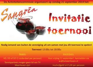 Sangria Invitatie toernooi
