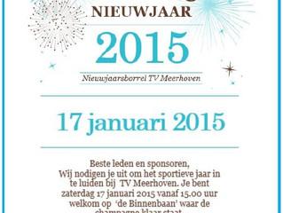Nieuwjaarsborrel zaterdag 17 januari 2015