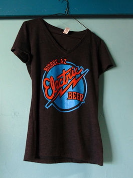 t-shirt with electric beer logo